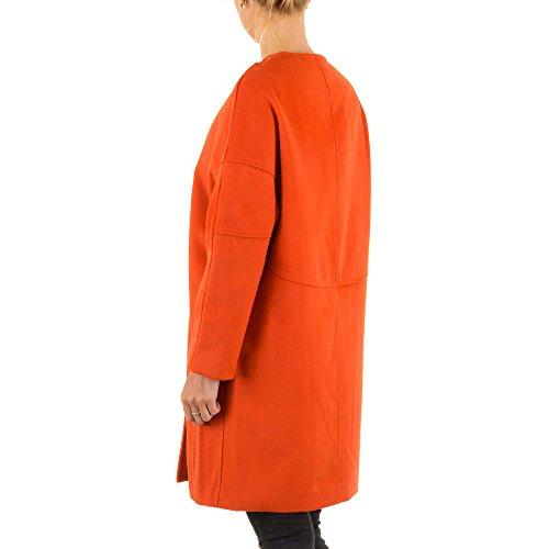 Ital-Design - Abrigo - para mujer naranja
