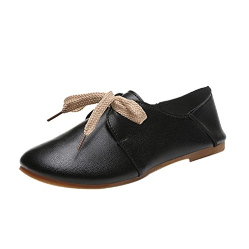 Flats Loafers Freizeit Schuhe Damen on Transer Slip Komfortable Schwarz Damen Casual tpH6cw
