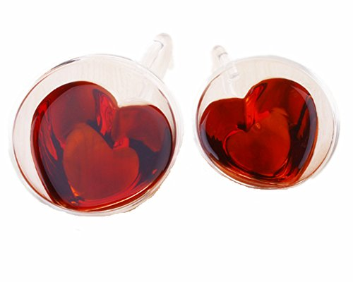 ouble Wall Insulated Glass Tea Cup 6oz/8oz (6oz(180ml)) Set of 2 ()