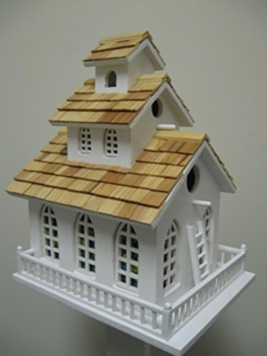 Fully Functional Traditional Church Inspired 3-Story Birdhouse - Country Church Birdhouse