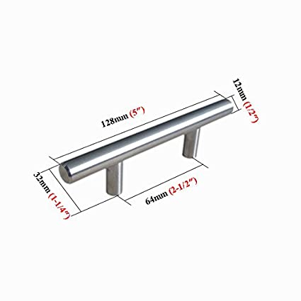 10 pack dasa 1 2 brushed nickel stainless steel t bar cabinet L Beam Flange 10 pack dasa 1 2 quot brushed nickel stainless steel t bar cabinet hardware handle