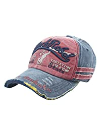 Forthery Unisex Embroidery Knights Vintage Baseball Cap Washed Distressed Mesh Adjustable Cotton Trucker Hat
