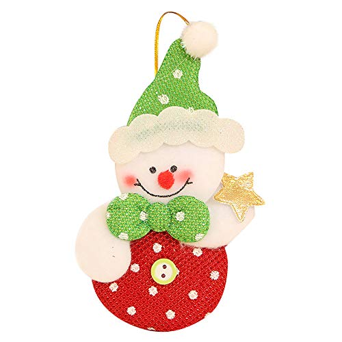 - Bowake Clearance Sale! Christmas Ornaments Gift Santa Claus Snowman Reindeer Toy Doll Hang Decorations (D)