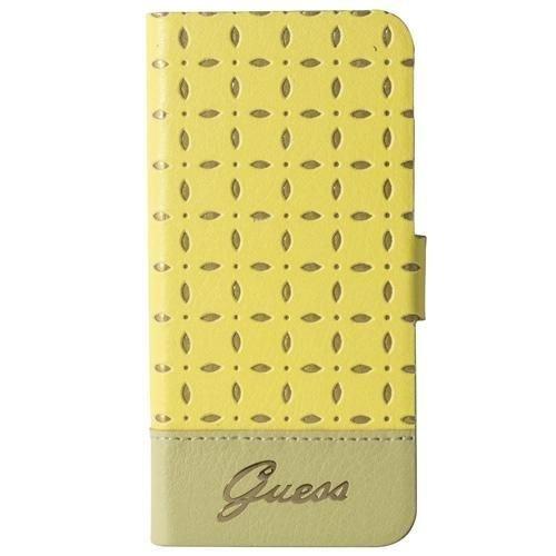 Guess GU325711 Leder Folio Case für Gianina Yellow iPhone 5/5S