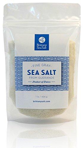 Fine Gray Sea Salt From Guérande 1 Lb by Brittany Sea Salt
