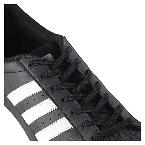 anan520 Elastic No Tie Shoelaces - One Size Fits All Adult And Kids Shoes(2 Pairs), Black, X-Large
