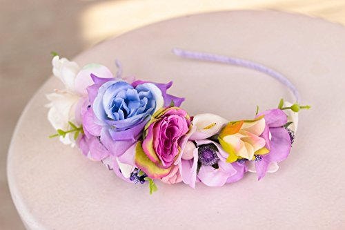 Floral Wedding Adjustable Crown Pink Wedding Headband Rose Bridal Headpiece