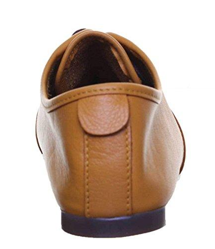 Beige Justin Cordones para Piel 40 XB Reece de Zapatos CD300 Talla Color Carmen de Mujer qqwf7TH