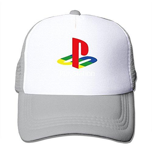 Cool Playstation Trucker Mesh Baseball Cap Hat Ash