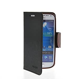 GETLAST [Black Brown] Beautiful Magnetic Buckle Leather Wallet Stand Case Cover For Samsung Galaxy S4 mini I9190