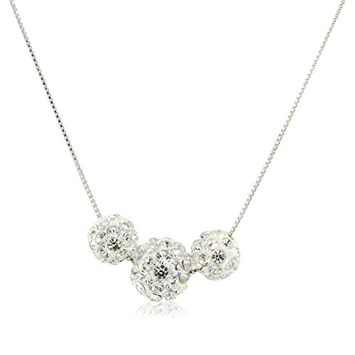 Three Silver Crystal Paved Balls Pendant - Crystal Ball Clasp Shopping Results