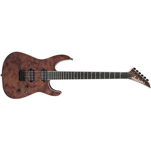 Jackson Pro Series Soloist SL2 Poplar Burl HT Mahogany 6-String Guitar, 24 Frets, Neck-Through-Body, Ebony Fingerboard, Satin, Carmel - Mahogany Burl