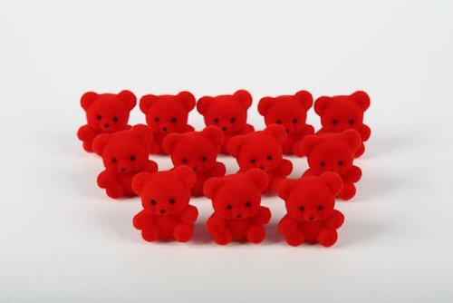 24-tiny-flocked-red-color-baby-teddy-bears-for-favors-crafting-and-creating