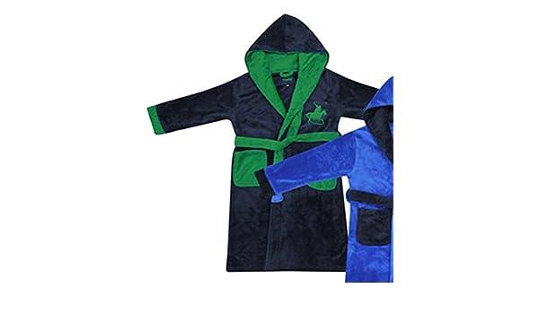 Boys bordado jugador de polo Batas 2 - 6yr (bac02281) multicolor azul marino/verde 5-6 Años: Amazon.es: Ropa y accesorios