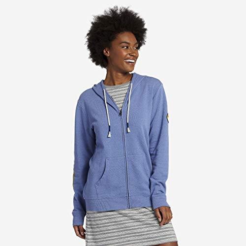 Life is Good Women's Simply True Zip Hoodie Palm Patch, Vintage Blue, - Life Hoodie Womens Zip