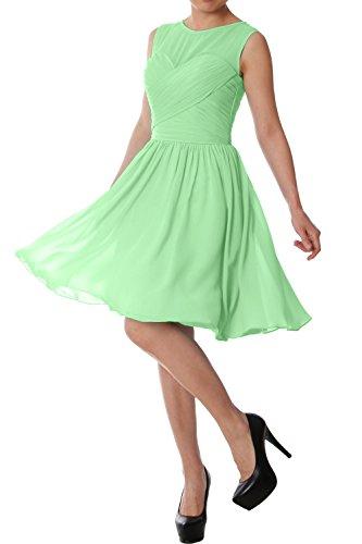 Short O Dress Formal Minze Bridesmaid Elegant Party Wedding Neck Chiffon MACloth Gown gwCOF