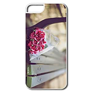 IPhone 5 5S Cases, Carnations Bouquet Bench White Covers For IPhone 5/5S