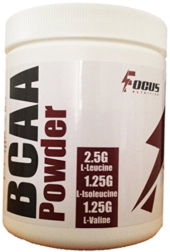 BCAA Powder, 250 Grams, GMP and FDA Certified Facility, 2:1:1 Ratio, Unflavored, High Quality with No Fillers, 50 Servings