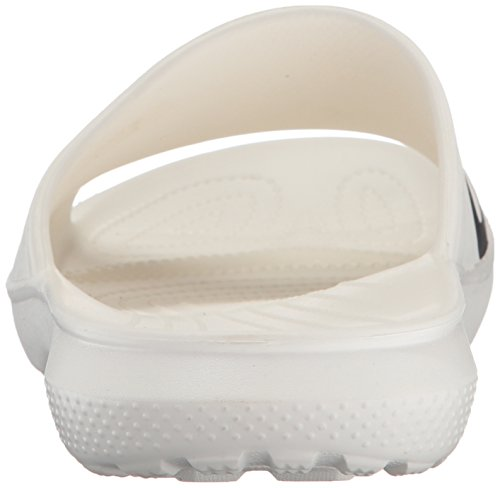 Slides Crocs black Unisex 204465 Adulto white Weiß Graphic Zuecos nbsp; Classic qEpUS