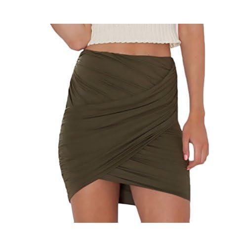 cfbe20779b Faldas Cortas Mujer Casuales Falda Tubo Colores Sólidos Elegante Slim Fit  Basicas Mejor