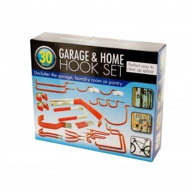 Garage & Home Storage Organize 30 Piece Hook Set Vinyl Coated