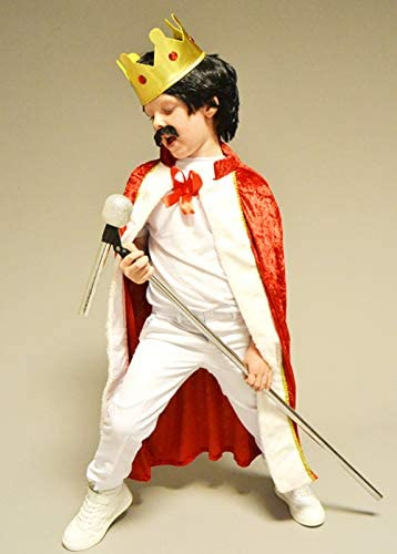 Magic Box Disfraz de Freddie Mercury Style King para niños: Amazon ...
