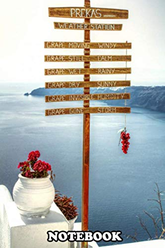 """Notebook: Santorini Best Landscape Collection , Journal for Writing, College Ruled Size 6"""" x 9"""", 110 Pages"""