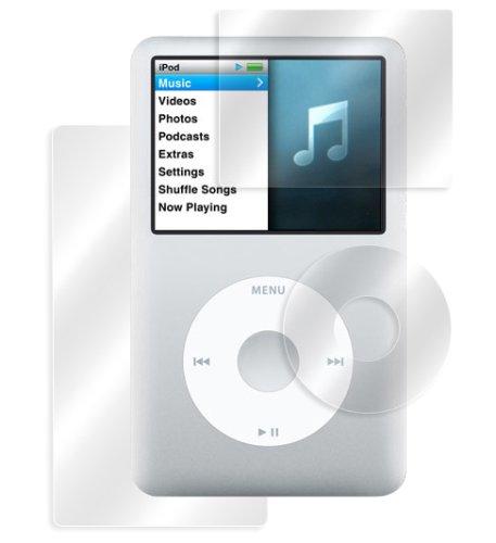 Ipod Classic Protector Screen - MIYAVIX OverLay Screen Protector Brilliant for iPod Classic (Screen, Wheel Back side - 3 packs) Crystal Clear Anti-FingerPrint OBIPDC