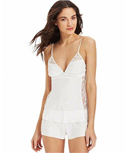 Betsey Johnson Women 731706 Sultry Satin Fly Camisole and Tap Shorts, Pearl, Small (Betsey Johnson Camisole)