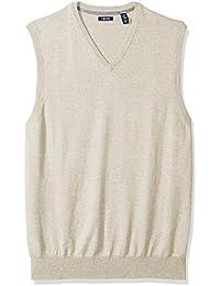 Men's Big and Tall Soft Fine Gauge V-Neck Solid Sweater Vest