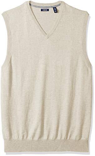 IZOD Men's Big and Tall Soft Fine Gauge V-Neck Solid Sweater Vest, New Rock, 2X-Large