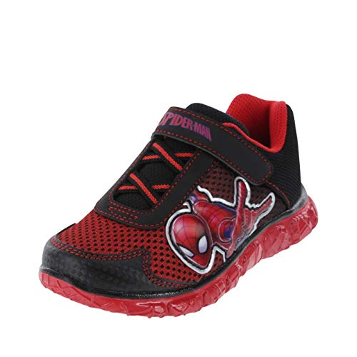 Marvel Entertainment LLC Spider-Man Black Red Boys' Toddler Spider-Man Runner 5 Regular -