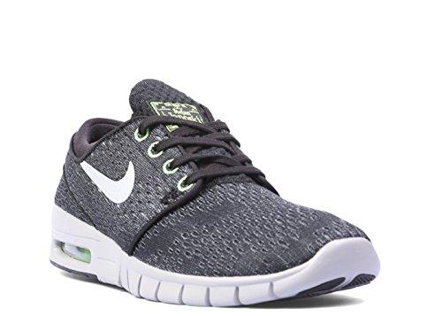 Nike Sb Janoski Max Black/Grey/Lime -631303-002 - Size 8.5 (Janoski Max Black Wolf Grey Flash Lime)
