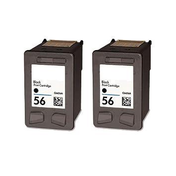 2 cartuchos de tinta negra HP 56 remanufacturados para ...