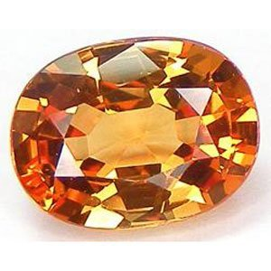 Yellow Created Sapphire Oval Cut 12mm from uGems