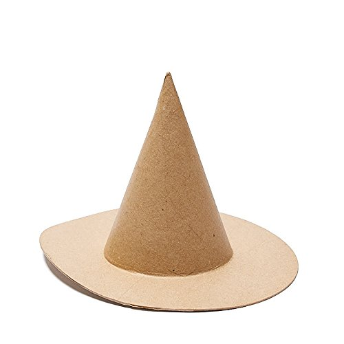 4 Hats Factory Direct Craft Natural Paper Mache Witch Hats for Halloween Home Decor