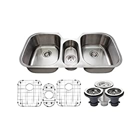 4521 16-Gauge Undermount Triple Bowl Stainless Steel Kitchen Sink
