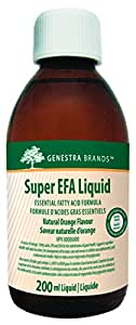 Genestra Brands - Super EFA Liquid - Supports Cardiovascular, Brain, Eyes, and Nerves* - Natural Orange Flavour - 200 ml Liquid