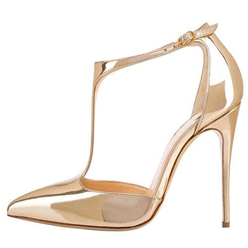 MERUMOTE - Zapatos de vestir para mujer dorado