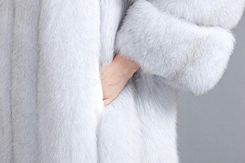 Top Fur Women Hooded Whole Skin Fox Fur Winter Coat Jacket US 12 by TOPFUR (Image #3)