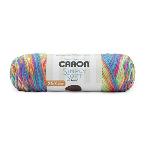 Caron Simply Soft Paints Yarn (4) Medium Worsted Gauge 100% Acrylic - 5oz - Rainbow Bright -  Machine Wash & - Bright Rainbow
