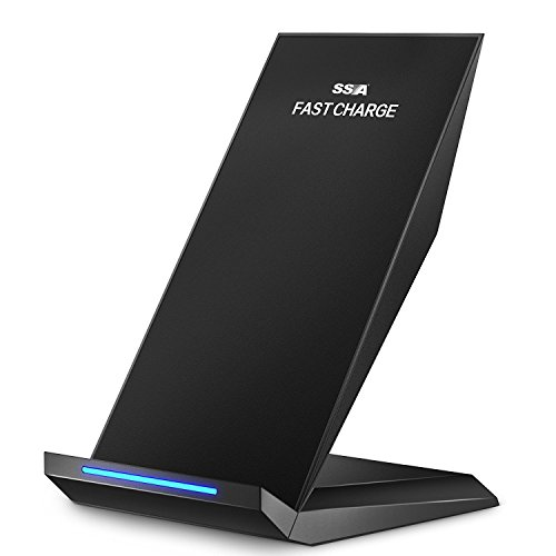 Fast Wireless Charger Cell QI Fast Wireless Charging Pad Stand for Samsung Galaxy Note 8 S8 Plus S8+ S8 S7 S7 Edge Note 5 and Standard Charge for iPhone X iPhone 8 iPhone 8 Plus SSA