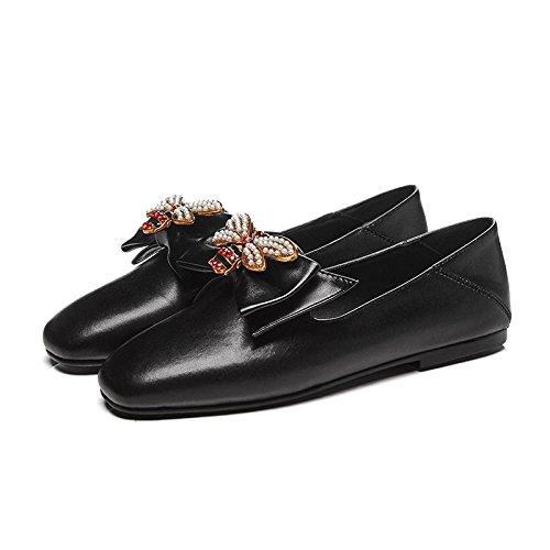 Zapatos Abeja Tamaño Arco Mujeres Gran Plano Zapatos Las de Perezoso ZFNYY de Solos dwpH6dqX