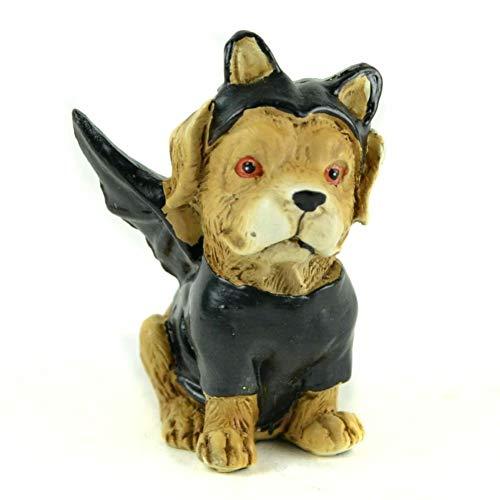 GARDENSHOW Miniature Fairy Garden Halloween Dog Dressed Up as Bat -