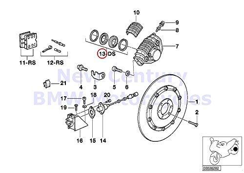 2 x BMW Genuine Motorcycle Repair Set Brake Caliper R65 R80 R80RT R100RS R100RT R1100RS K1 K100RS K1100LT K1100RS K1200RS K75 K75C K75RT K75S K100 K100LT K100RS K100RT