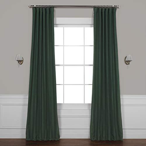 HPD HALF PRICE DRAPES BOCH-PL1806-96 Bellino Blackout Room Darkening Curtain 50 X 96,Pine Forest Green