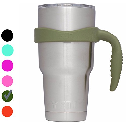 Grab Life Outdoors (GLO) - Handle For YETI Rambler 30 Oz Tumbler Cup - Fits Ozark Trail, RTIC & more - Handle Only (Hunter Green)