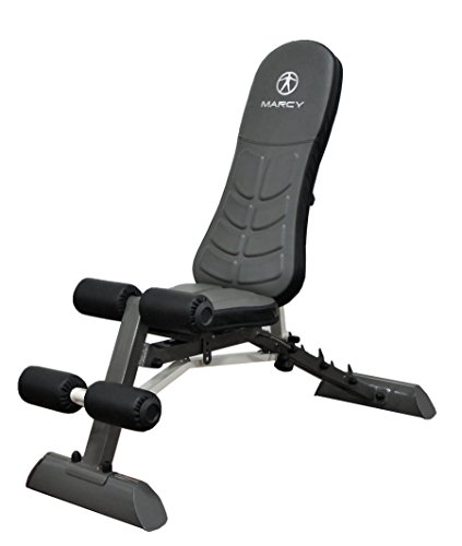 Marcy Deluxe Foldable Utility Bench Gym Equipment - SB-10100
