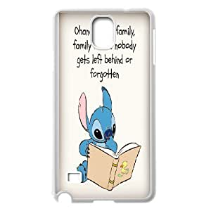 Custom Cute Stitch-Ohana means family phone Case Cove For Samsung Galaxy NOTE4 Case Cover XXM9151248