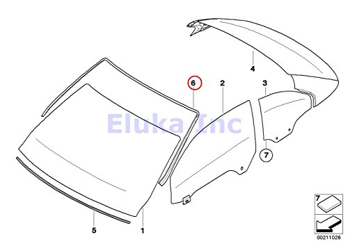 BMW Genuine Exterior Trim Grill Seals Windshield Moulding Front Upper  328i 335i M3 328i 335i 335is M3